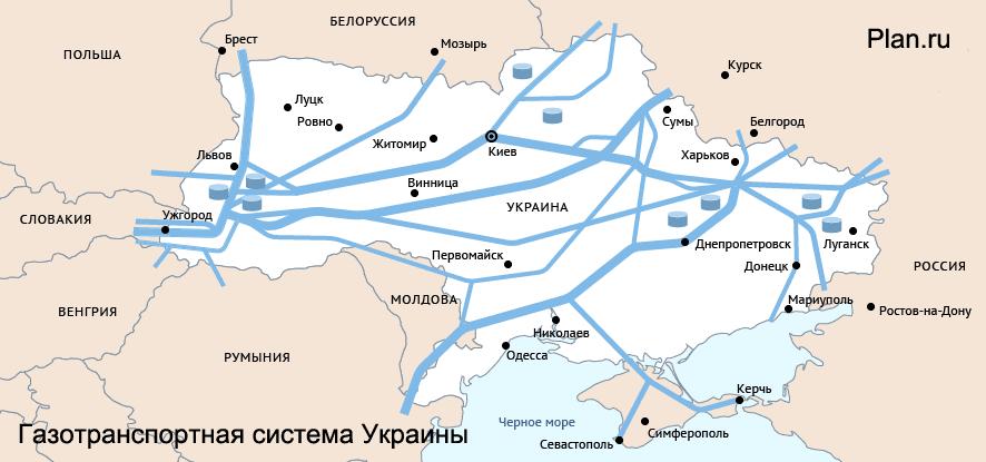 в Европу. Схема / Карта.