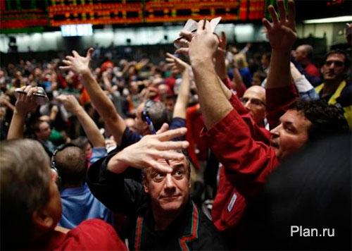 Трейдеры на Чикагской товарной бирже.