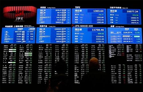 Nokkei stock market, Japan.