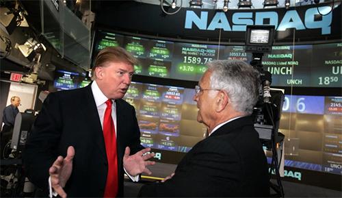 Трамп на бирже Nasdaq.