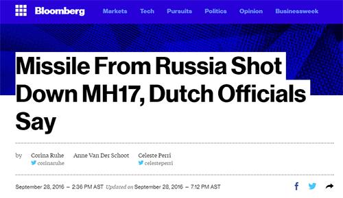 Русская ракета сбила рейс MH17.