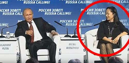 Huawei Technologies Wanzhou Meng Russia with Vladimir Putin