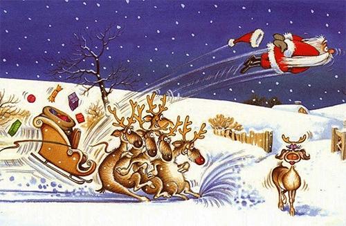 Santa Crash Wall Street stock market